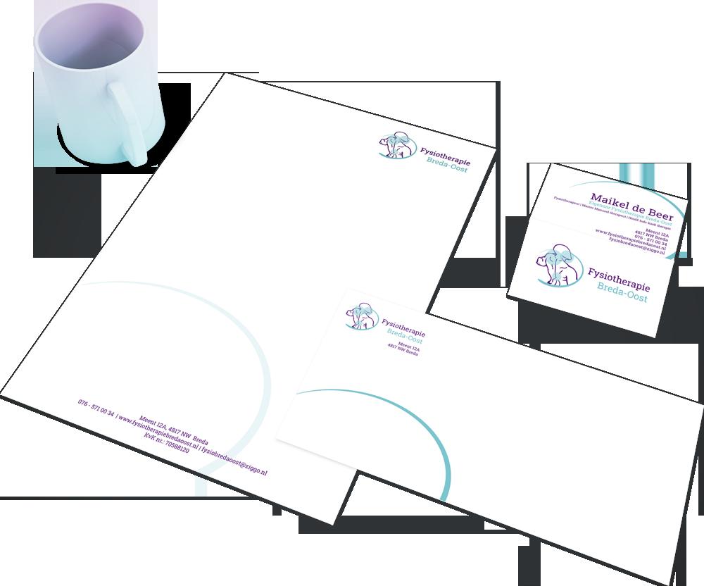 Huisstijl voor Fysiotherapie Breda Logo4All